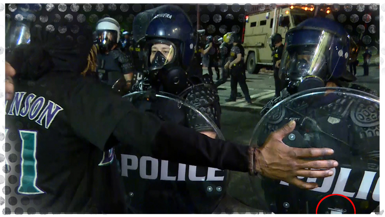 UK-made shields being used during BLM protests in Atlanta