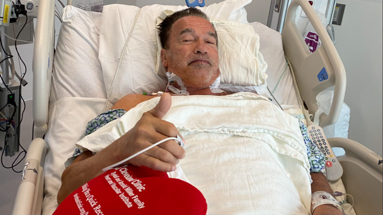 "Arnold Schwarzenegger said he feels ""fantastic"" after heart surgery"