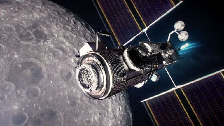 The Lunar Gateway: An orbital outpost around the Moon that provides vital support for a sustainable, long-term human return to the lunar surface. It is a critical component of the Artemis program. Pic: NASA