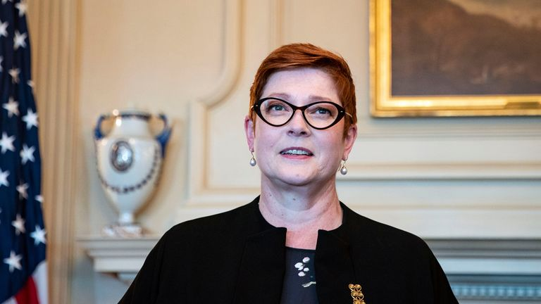 U.S. Secretary of State Mike Pompeo meets with Australia's Foreign Minister Marise Payne at the State Department