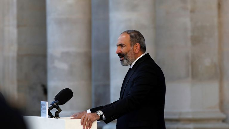 Armenia's Prime Minister Nikol Pashinian has agreed the truce with Azerbaijan