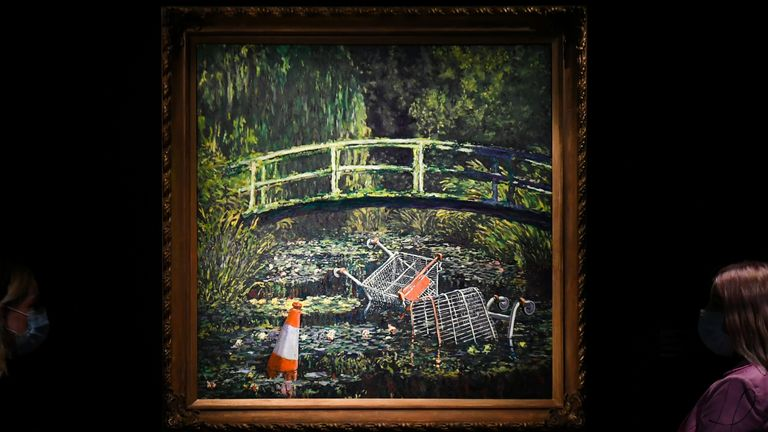 The painting is now the second most expensive Banksy work to be sold at auction