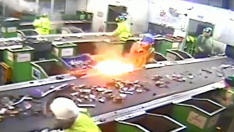 """A new campaign has been launched in the UK urging consumers to be careful of how they dispose of batteries following a spate of fires caused by dead """"zombie batteries"""" at waste and recycling centres."""