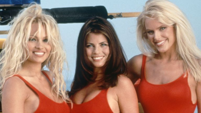 'Baywatch' TV Pamela Anderson, Yasmine Bleeth, Gena Lee Nolin. Pic: Fremantle Media