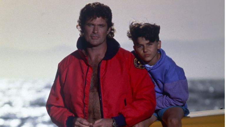 Jeremy Jackson and David Hasselhoff in Baywatch. Pic: Fremantle Media