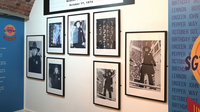 THE BEATLES SOCIETY EXHIBITION OF JOHN LENNON PHOTOS