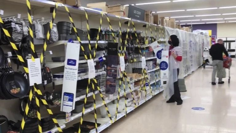 Supermarkets in Wales block access to 'non-essential' items