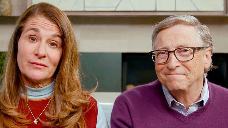 Bill Gates and wife Melinda Gates