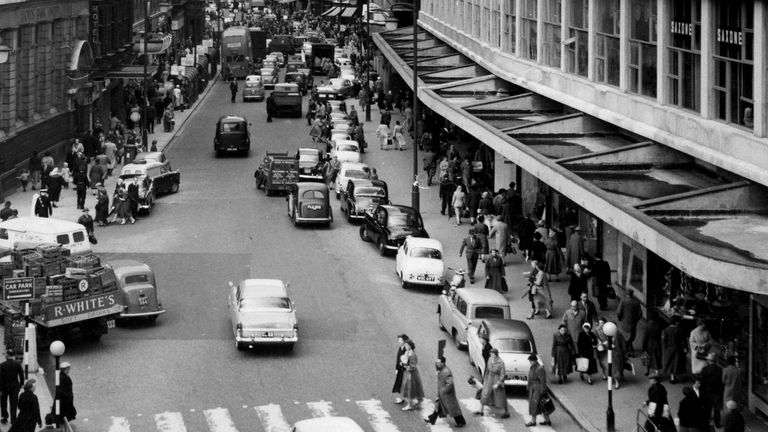 New Street in Birmingham City Centre in the 1960s
