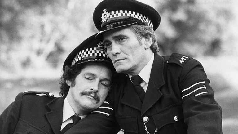 The pair played bungling cops in The Boys In Blue in 1982