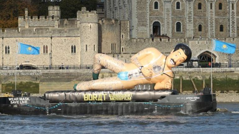 Just what 2020 needs - a giant, semi-naked Borat inflatable
