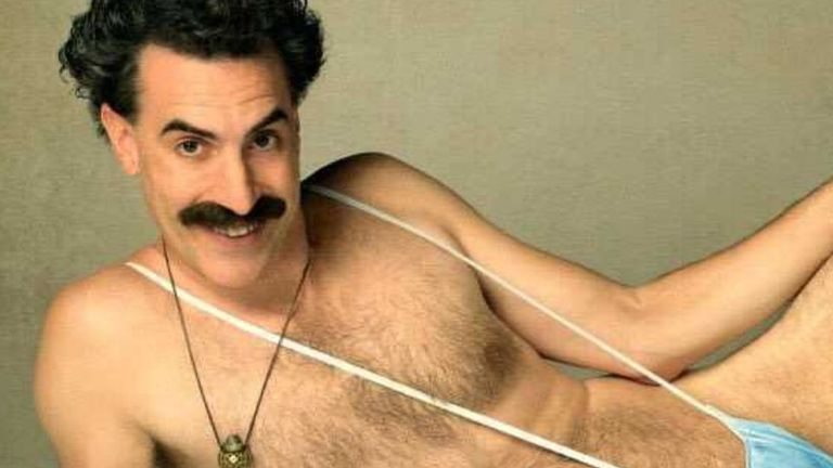 Sacha Baron Cohen in a promo pic for the Borat sequel. Pic: Amazon Prime Video