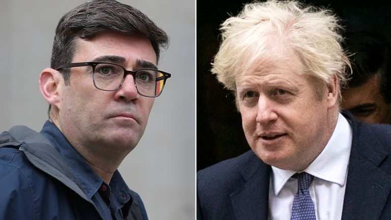 Boris Johnson and Andy Burnham are facing-off over Greater Manchester's future