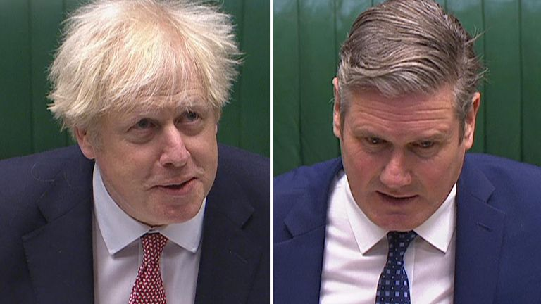 Boris Johnson and Sir Keir Starmer