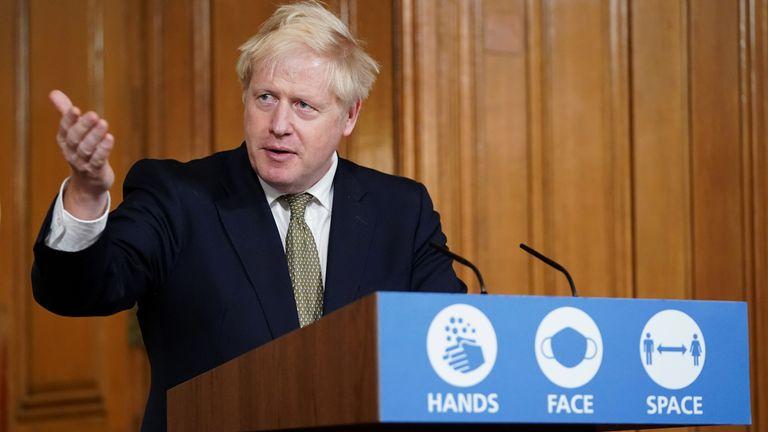 Boris Johnson Pic: Pippa Fowles/10 Downing Street