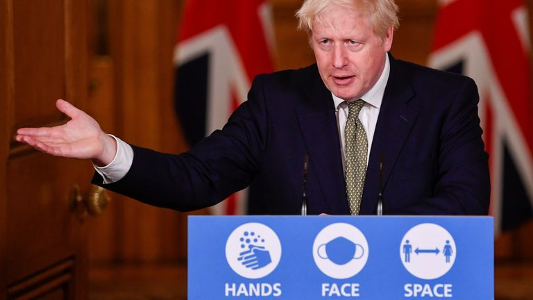 Boris Johnson confirmed a new three-tier system on Monday