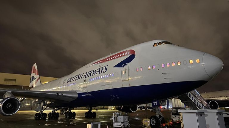 One of the 747 jumbo jets being taken out of service