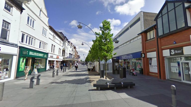 The cash machine at the WHSmith on Chapel Street was targeted. Pic: Google Street View
