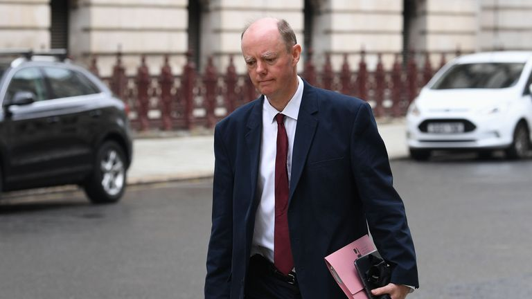 Chief Medical Officer for England, Chris Whitty in Whitehall, London. PA Photo. Picture date: Friday June 12, 2020. Photo credit should read: Stefan Rousseau/PA Wire..