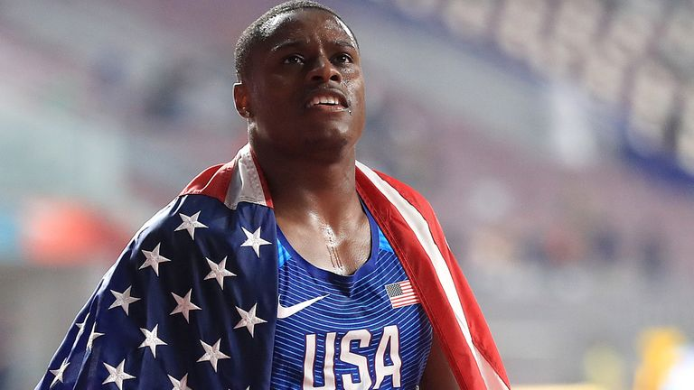 File photo dated 28-09-2019 of USA's Christian Coleman.