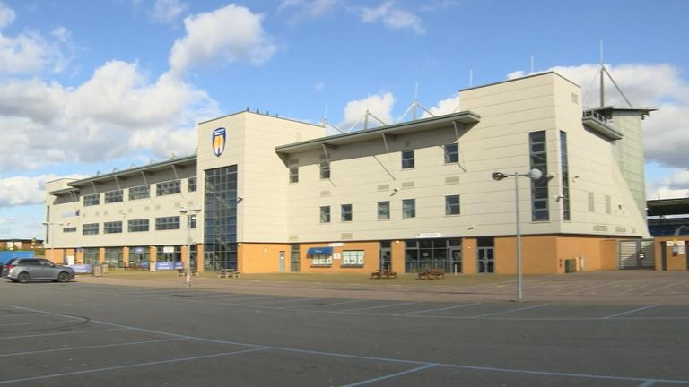 Colchester United's stadium would usually be home to loyal fans