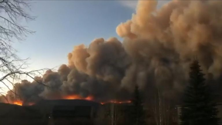 The East Troublesome fire in Grand County, Colorado