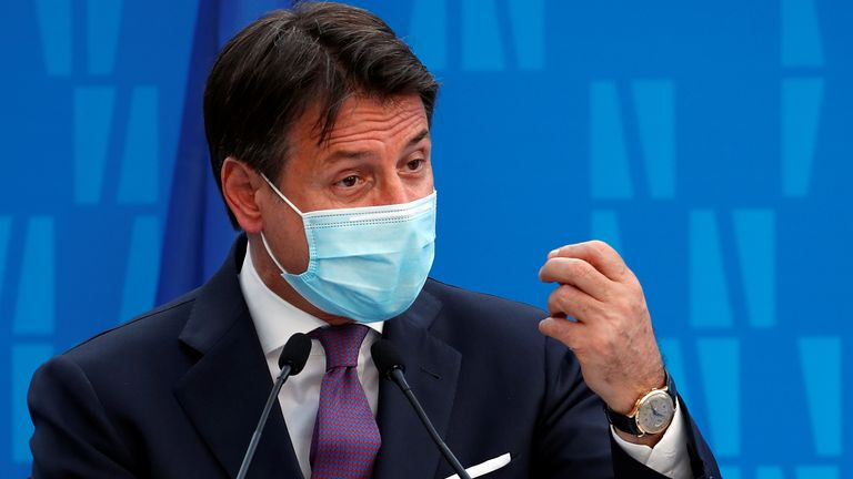 Italian Prime Minister Giuseppe Conte made the announcement on Sunday