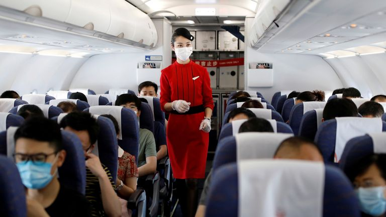 The new study by the US government suggests air travel may be safer than first thought. File pic