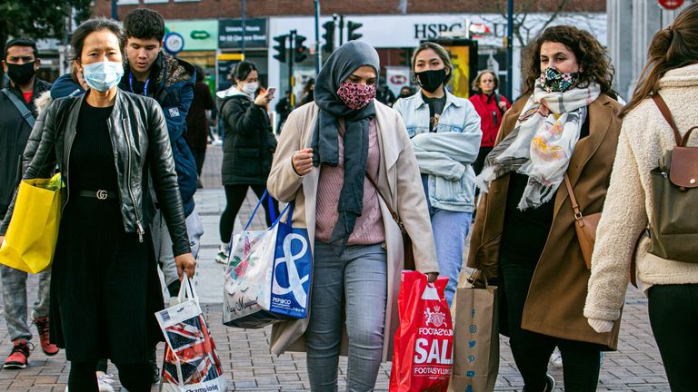 Crowds of shoppers in Kingston High Street. London. Pic: Amer Ghazzal/Shutterstock