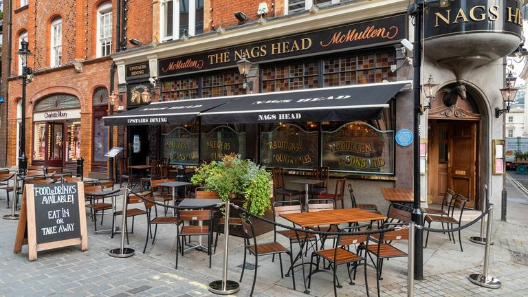 The Nags Head Pub in Covent Garden. Dave Rushen/SOPA Images/Shutterstock