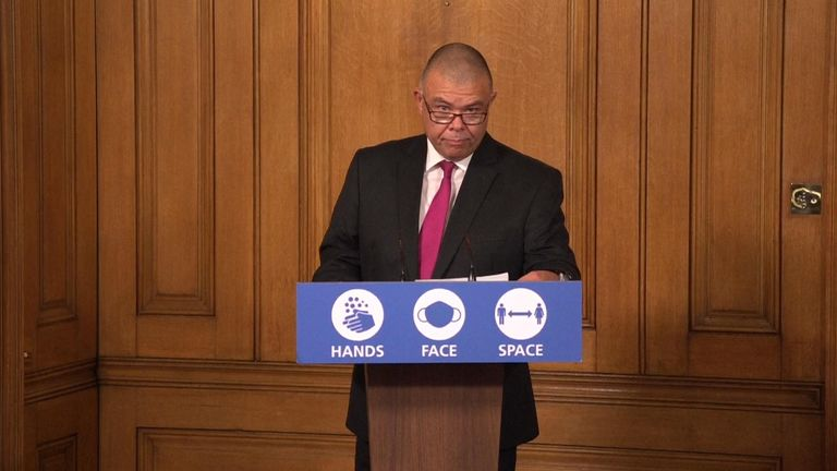 Deputy chief medical officer for England, Professor Jonathan Van-Tam speaks during a Downing Street coronavirus press briefing
