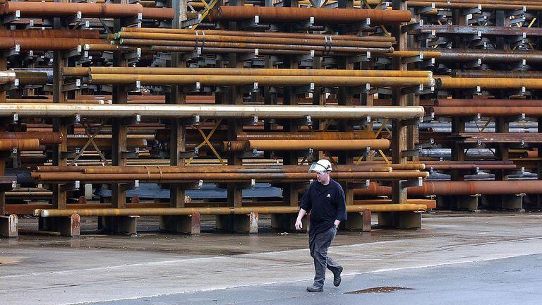 Corus steelworker, Crane driver Kane Sidebottom, 30, pictured in 2003