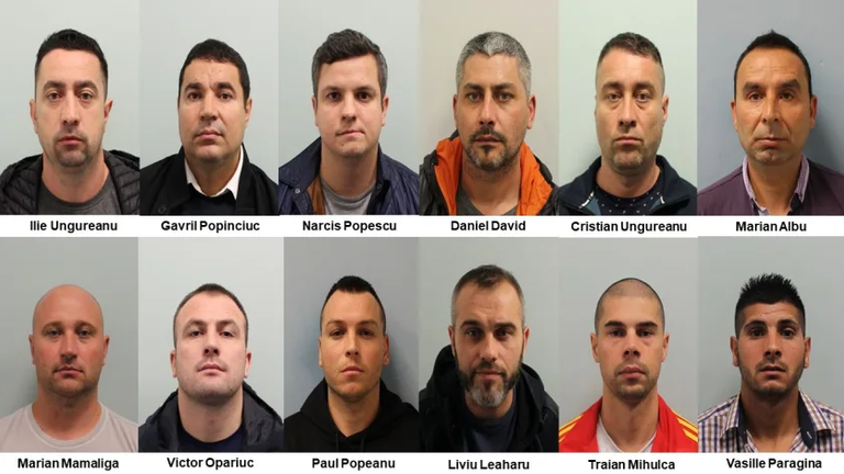 Twelve men who formed a sophisticated criminal network and travelled to the United Kingdom in order to commit high value and well planned burglaries have been jailed. Pic: Met Police