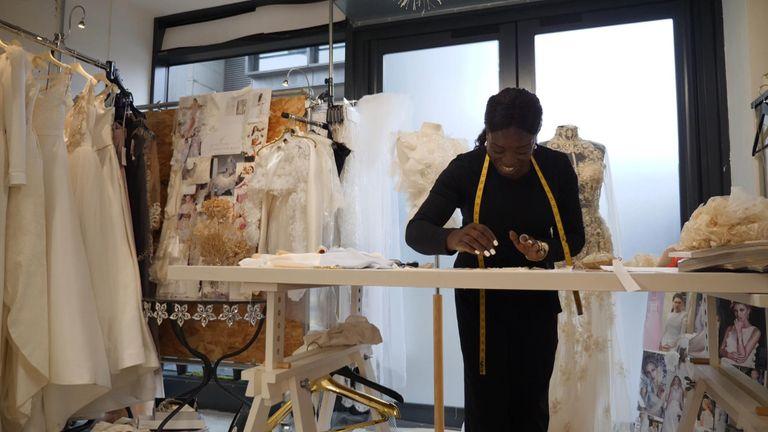 London-based wedding dress designer Cynthia Grafton-Holt