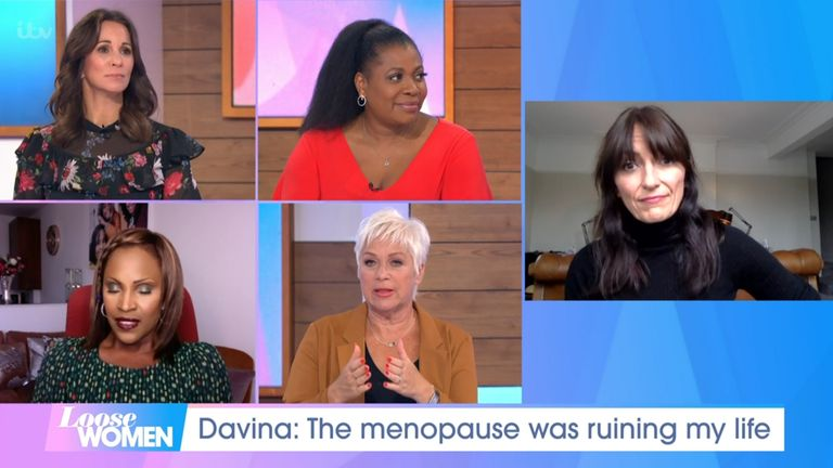 Davina McCall on Loose Women on 12 October 2020