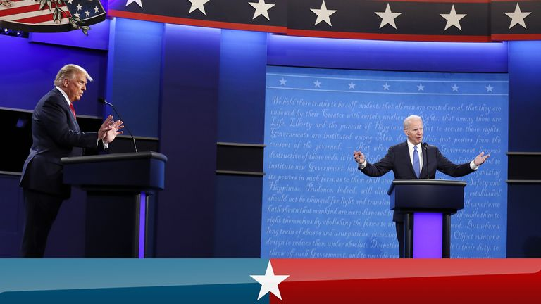 Final US presidential debate - highlights. Pic: Shawn Thew/EPA-EFE/Shutterstock