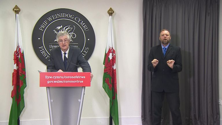 Mark Drakeford has announced a 'fire break' for Wales