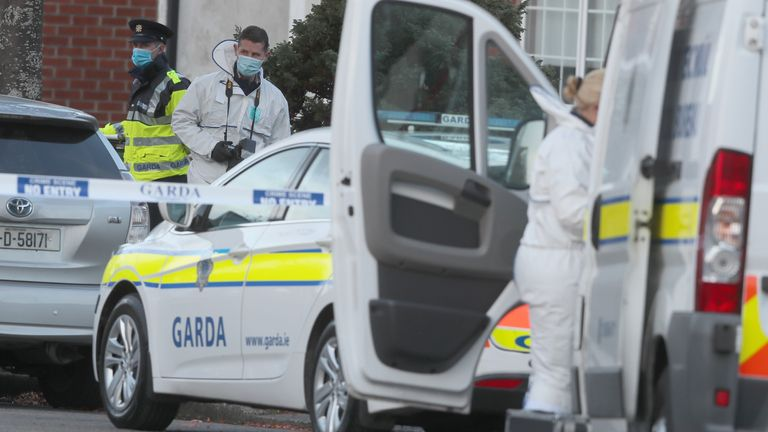 Forensic officers at the scene in Ballinteer, south Dublin
