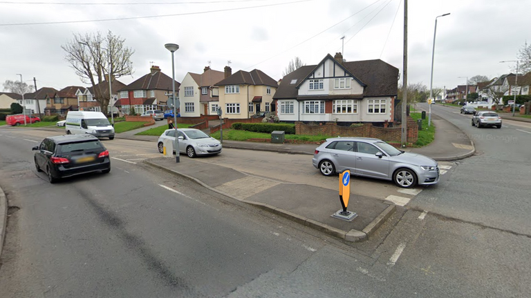 The collision happened on Eastcote Road in Ruislip. Pic: Google Maps