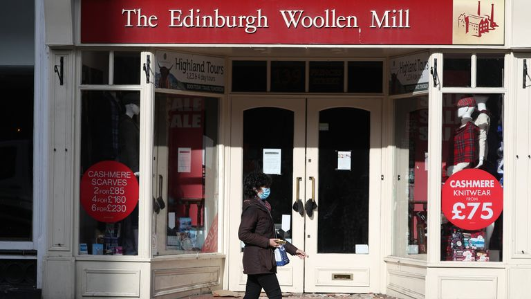 Edinburgh Woolen Mill shop