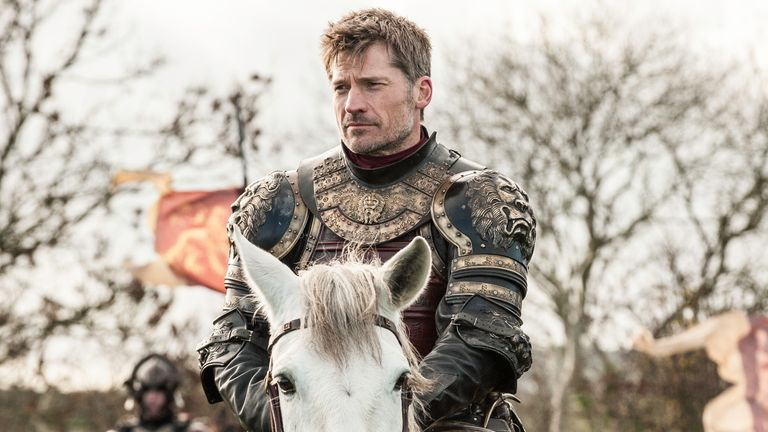 Nikolaj Coster-Waldau as Jaime Lannister in Game Of Thrones. Pic: Sky UK/ HBO