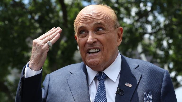 Mr Giuliani said he was tucking in his shirt