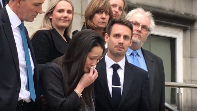 Sarah and Tom Richford outside Maidstone Coroner's Court in January after the conclusion of the inquest into the death of their son Harry Richford. Harry died seven days after he was born in November 2017 at the Queen Elizabeth the Queen Mother (QEQM) Hospital in Margate.