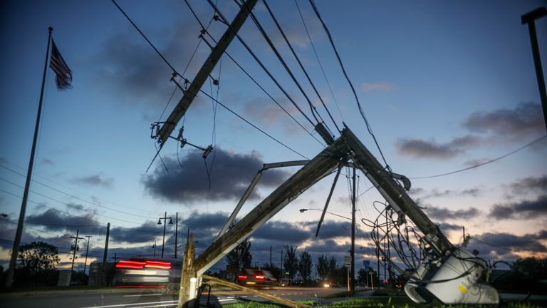 Power lines were downed all over Louisiana