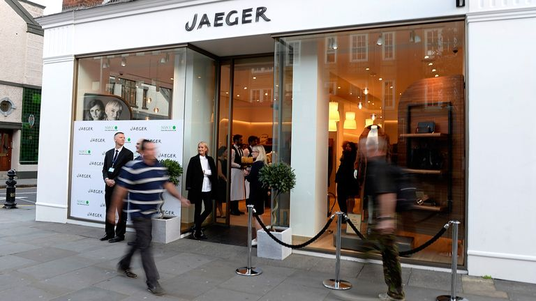 A Jaeger store in central London
