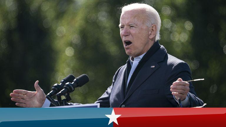 Democratic presidential nominee Joe Biden in North Carolina
