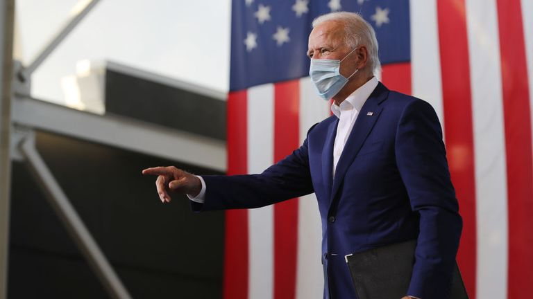 Joe Biden was campaigning in Florida on the same day