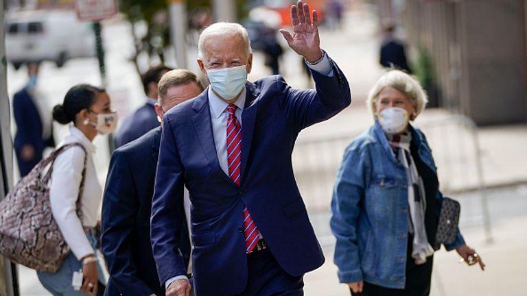 Joe Biden is pictured in Wilmington, Delaware on Monday