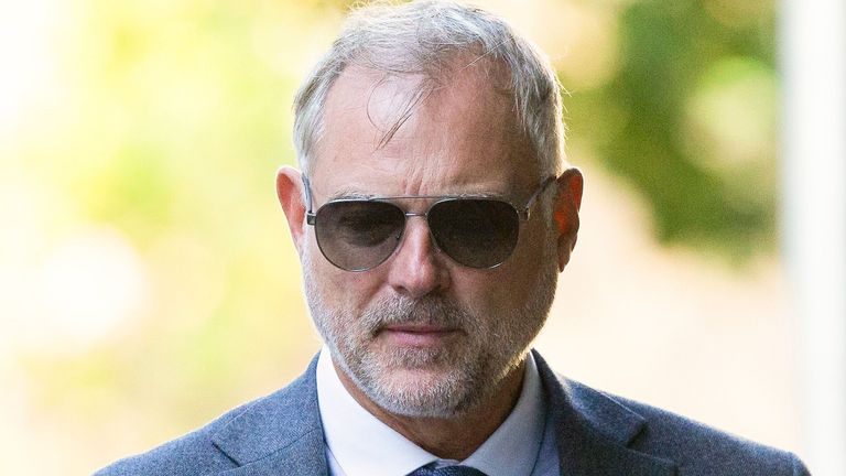 John Leslie at Southwark Crown Court in August. Pic: George Cracknell Wright/LNP/Shutterstock