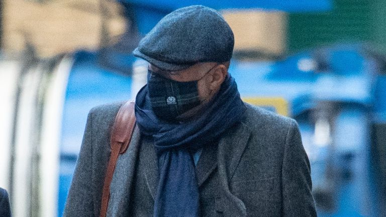 Former Blue Peter presenter, John Leslie, 55, arriving at Southwark Crown Court in London where he is on trial for sexual assault.